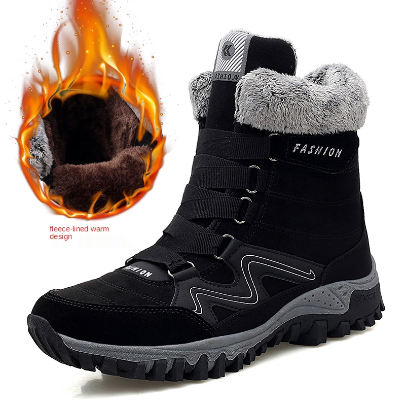 2021 autumn and winter men's and women's shoes warm plus cotton shoes plus thick snow boots high help outdoor long couple boots