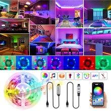 RGB 2835 LED Strips Light Bluetooth APP Control Sync Music 3 Key Flexible Tape Decoration BackLight