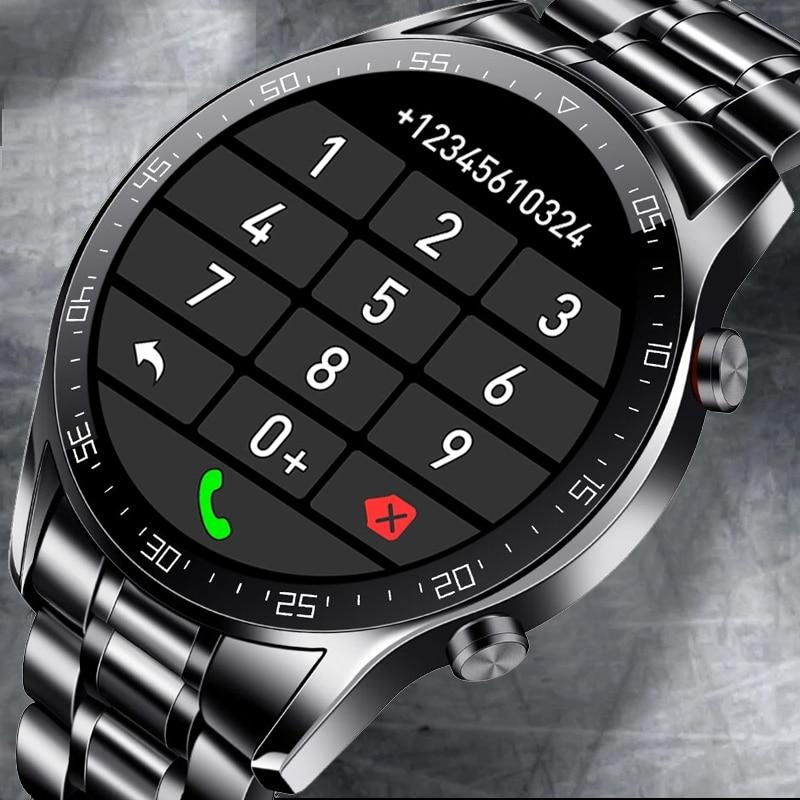 2021 جديد الساعات الذكية الرجال شاشة تعمل باللمس كامل الرياضة اللياقة البدنية ساعة IP67 مقاوم للماء بلوتوث ل أندرويد ios smartwatch رجالي + صندوق