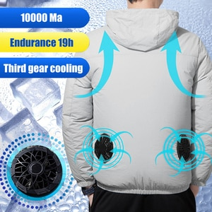 Summer Air-Conditioning Fan Cooling Breathable Vest Smart Charging Jacket Heat High Temperature Protective Outdoor Sport Breatha