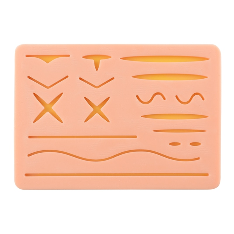 Silicone Skin Suture Training Pad Suture Training Kit Suture Pad Accessories for Practice and Training Use training