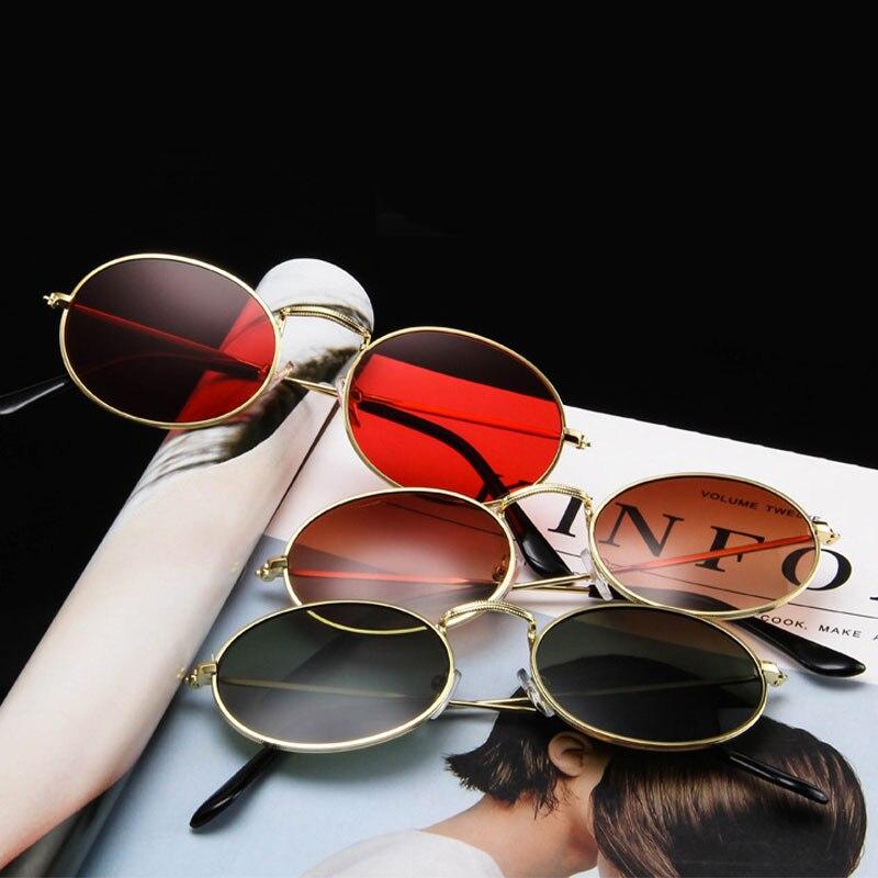 Classic Retro Punk Sunglasses Women 2021 Luxury Brand Vintage Small Round Sun Glasses Metal Frame Su