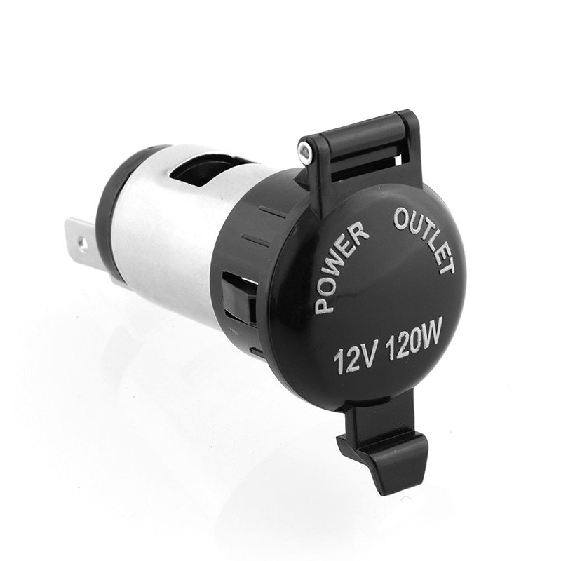 12V Car Cigarette Cigar Lighter Socket Charger Power Supply Outlet Waterproof Motorcycle Auto Boat T