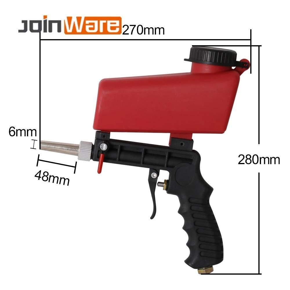 90PSI Sandstrahlen Pistole Sandstrahlen Maschine Pneumatische Sandstrahler Spray Gun Sand Entfernung Strahlen Tragbare