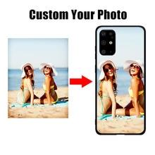 Image personnalisée Pour Samsung S6 S7 S8 S9 S10 S11 S20 Plus S20 Ultra M10 20 30 40 Note 8 9 10 Plus Design housse DIY photo