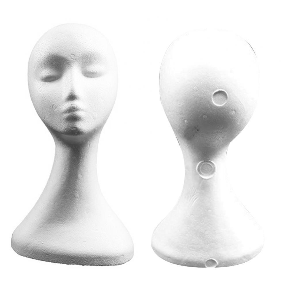 DIY Props Headdress Display Model Foam Female Mannequin Head Wig Hat Holder