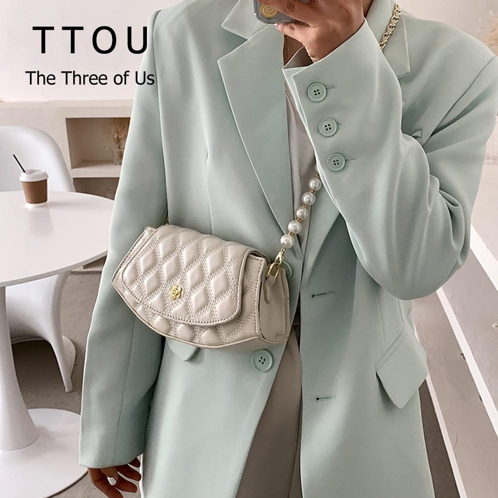 Classic Mini Pu Leather Crossbody Shoulder Bags For Women 2021 Trend Female Shoulder Bags Fashion Branded Chain Design Handbags