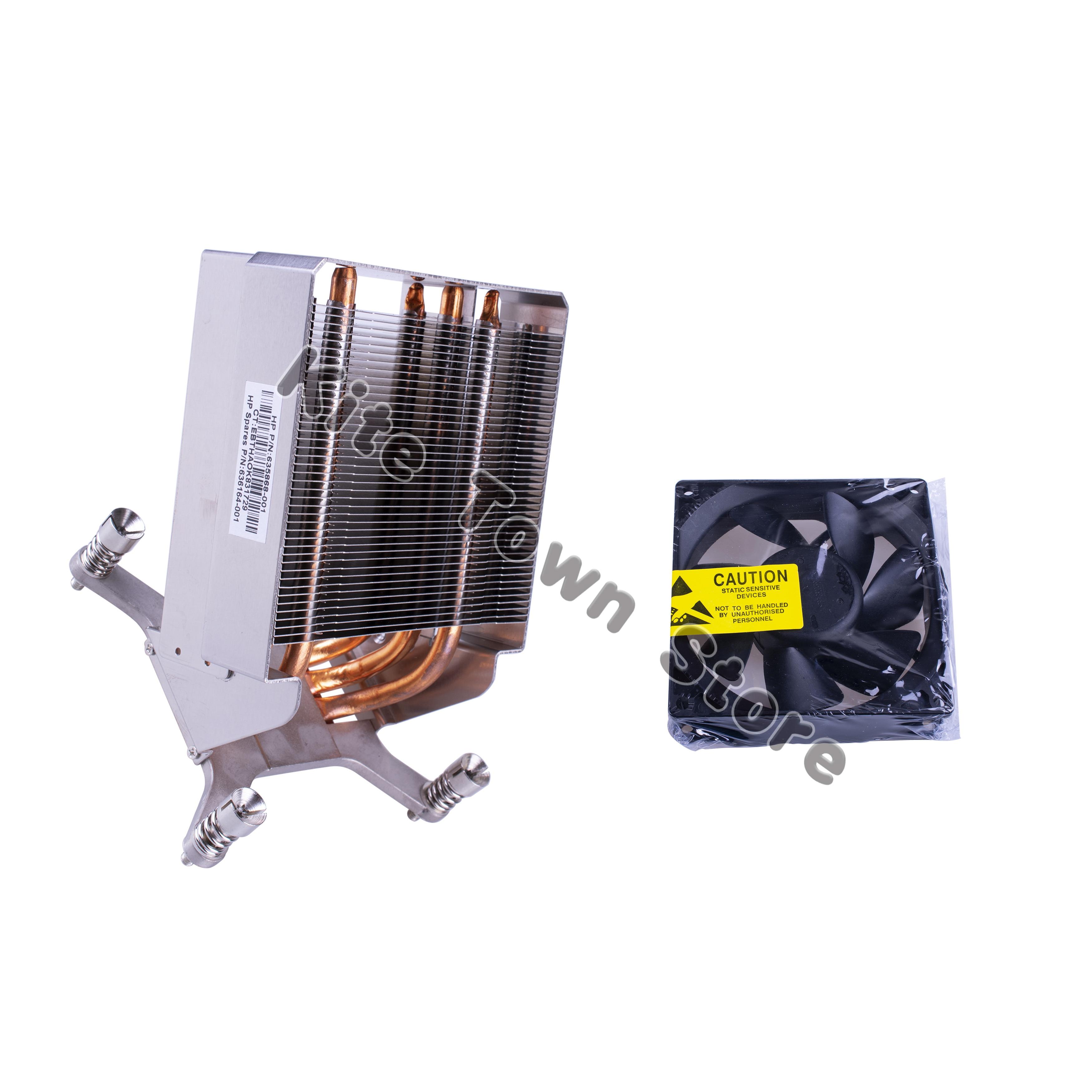 Новый радиатор для hp Z820 рабочей станции 635868-001 636164-001 w/Вентилятор