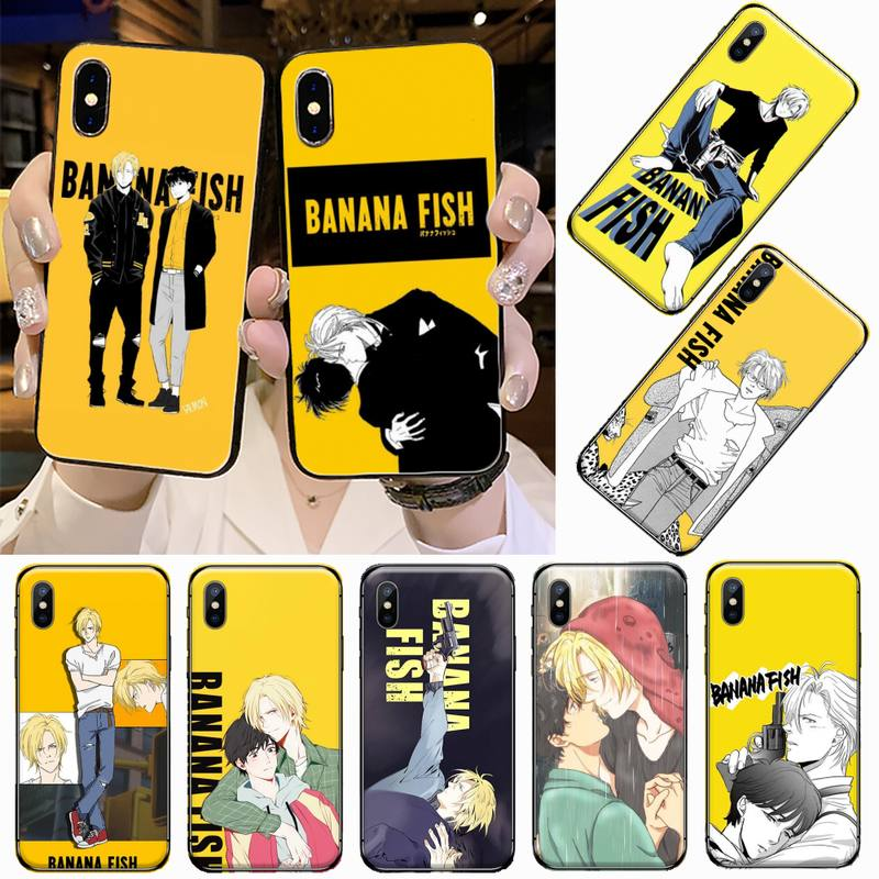 Banana Fisch anime homosexuell anime DIY telefon Fall abdeckung Shell Für iphone 5 5s 5c se 6 6s 7 8 plus x xs xr 11 pro max