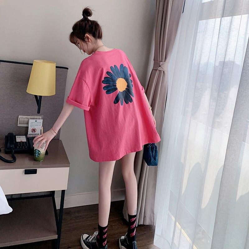 Топы женские 2020 весенние летние футболки Kawaii Streewear с коротким рукавом в Корейском стиле женские футболки оверсайз 2XL