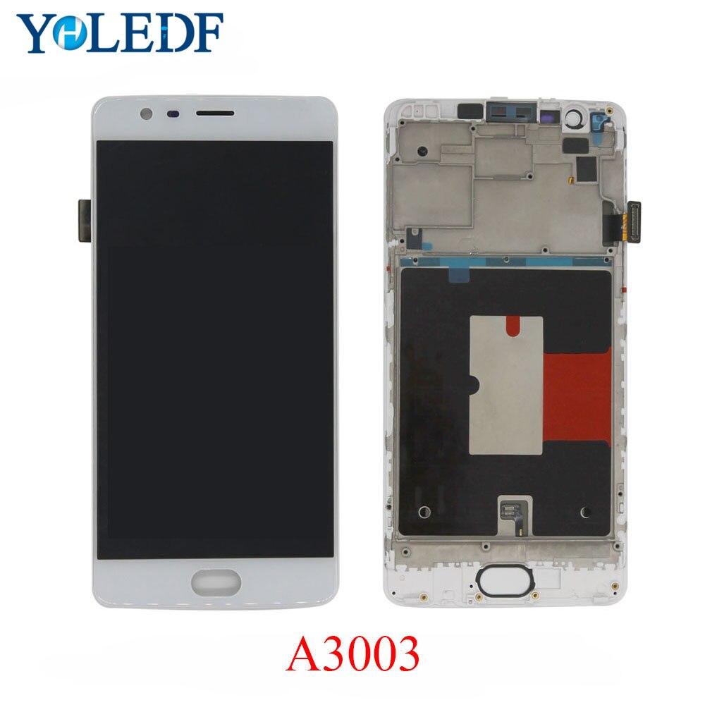 "FHD 5,5 ""Ekran para Oneplus 3T A3010 A3000 pantalla LCD pantalla táctil 1 + 3 montaje para One plus 3 A3003 tres piezas de repuesto"