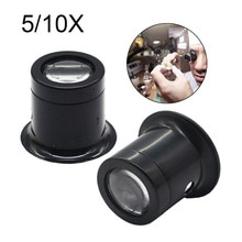 Jewelry Watch Magnifier Tool 10X/5X Monocular Magnifying Glass   Eye Magnifier  Repair Kit Tool
