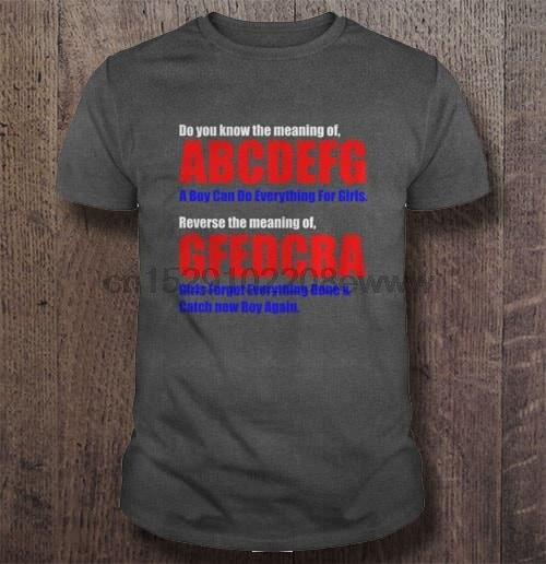 Camiseta para hombre, ¿sabes el significado de ABCDEFG? Un niño puede hacer todo para las mujeres de las muchachas camiseta