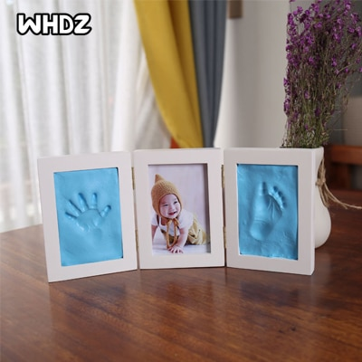 Newborns Photo Frame Baby Molds Handprint Footprint 3D DIY Soft Clay Inkpad Kids Exquisite Souvenirs Casting Home Decoration