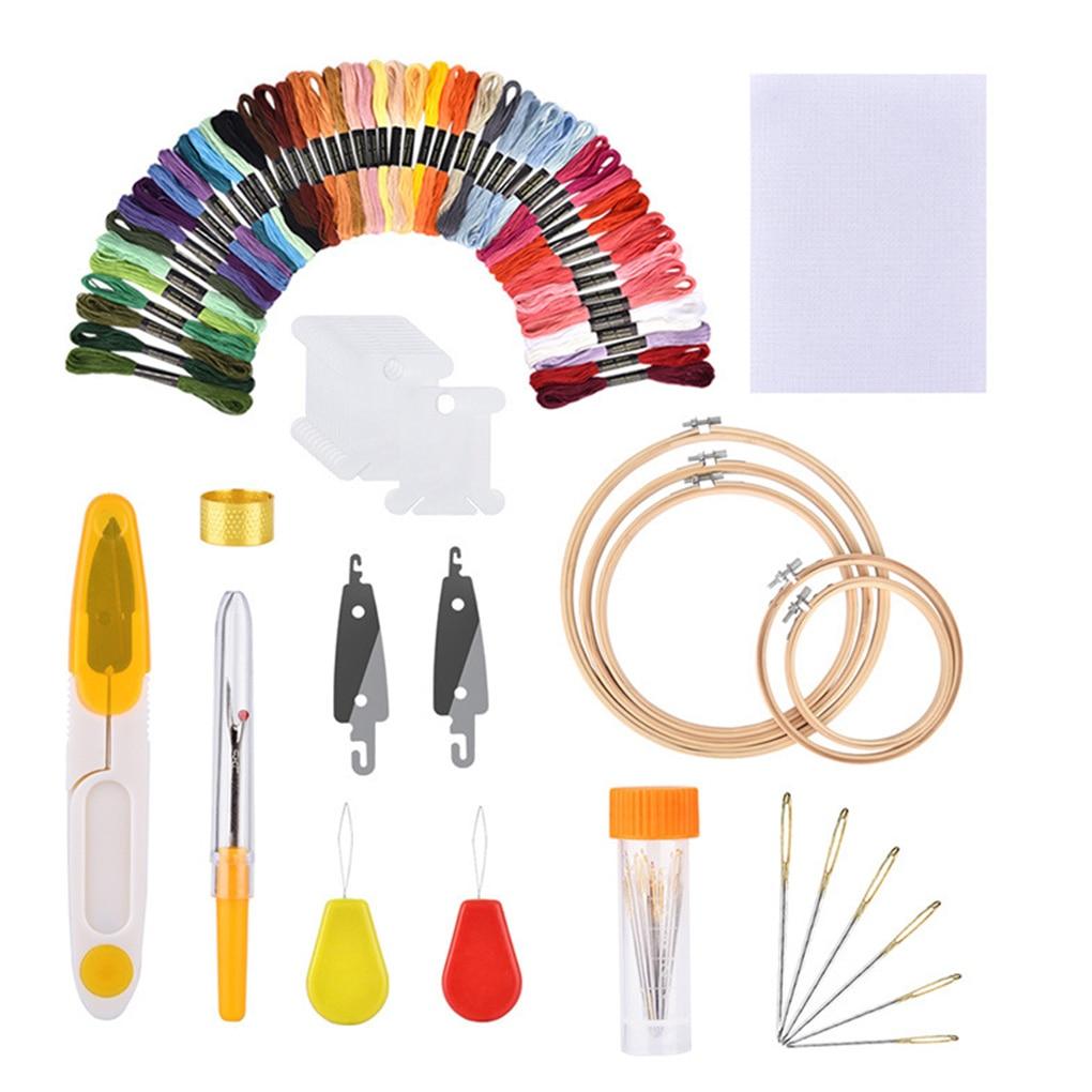 Juego de para bordado de aguja y aro de 100 colores Kit...