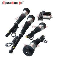 StOSSDaMPFeR 5PCS Air Compressor Rear Air Spring Front Air Ride Fit Mercedes-Benz W221 2213209313 2213205613(5513) 2213201604