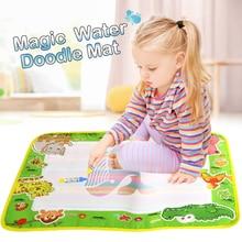 50*36cm eau Doodle tapis dessin livre et 2 stylos magiques animaux thème apprentissage éducatif peinture conseil jouets pour enfants cadeau de noël