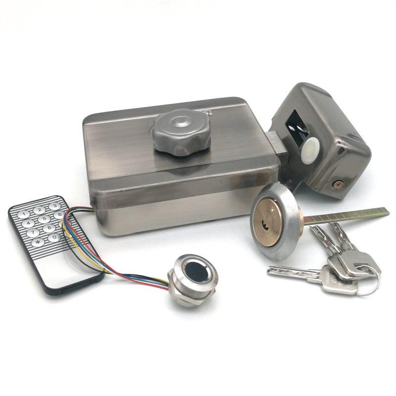 قفل كهربائي ببصمة الإصبع ، قفل روحي بدون أسلاك ، يعمل بالبطارية ، للتحكم في الوصول إلى منزل عنبر