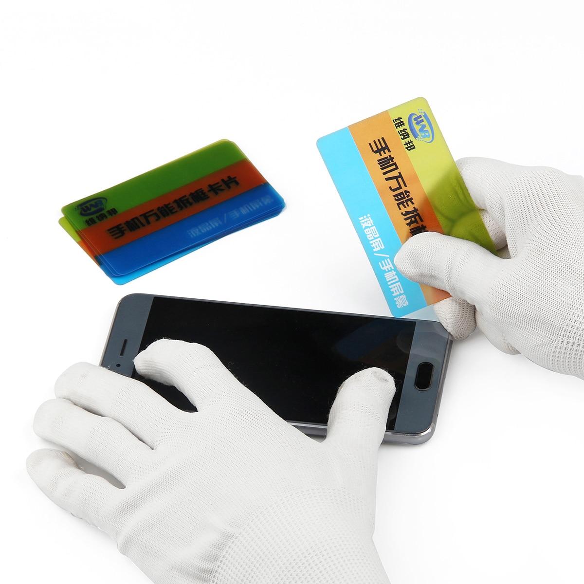 Tarjeta de apertura de plástico, pantalla LCD, batería, desmontaje, raspador de palanca...