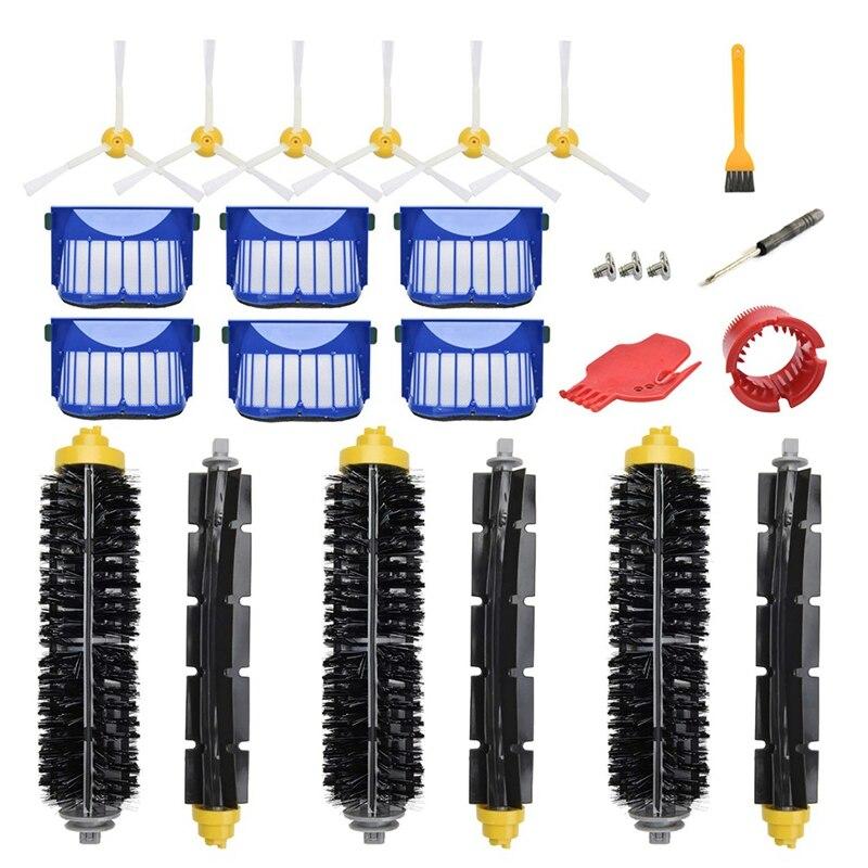 Accessoires de remplacement Kit Pour Irobot Roomba 600 Série 690 680 660 651 650 (Pas Pour 645 655)500 Série 595 585 564 552,6 Filtre