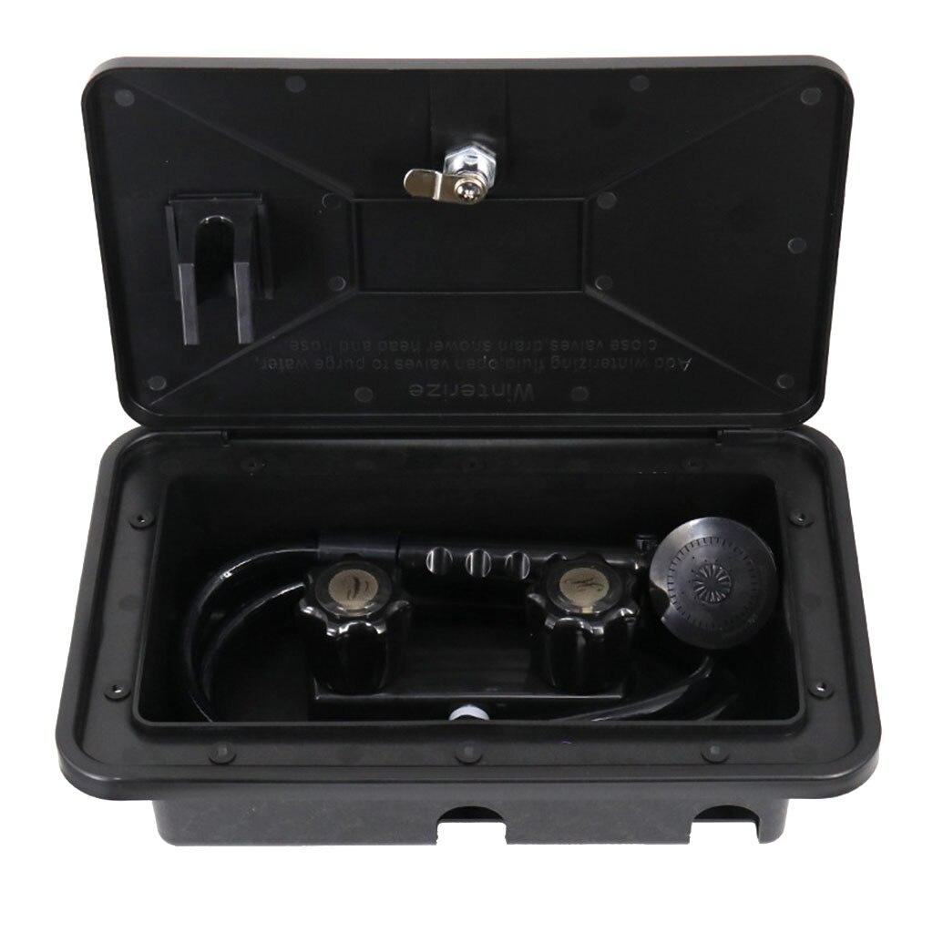 Kit de caja de ducha Exterior RV negro barco marino Camper autocaravana caravana accesorio