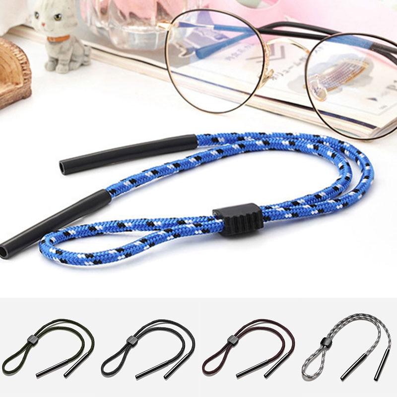Cuerda antideslizante Unisex para gafas, gancho antideslizante para deportes al aire libre, accesorios para las piernas, cordón con correa para el cuello, cordones ajustables