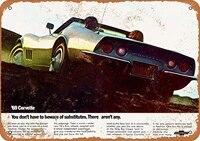 wallcolor 812 metal sign 1969 chevy corvette vintage look
