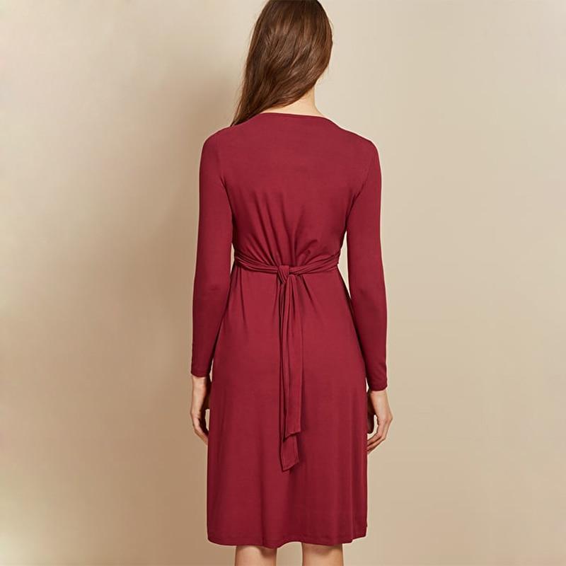Pregnancy Dress Plus Size Pregnant Breastfeeding Dress Women Long Sleeve Dress Maternity Nursing Dress Big 12345 enlarge