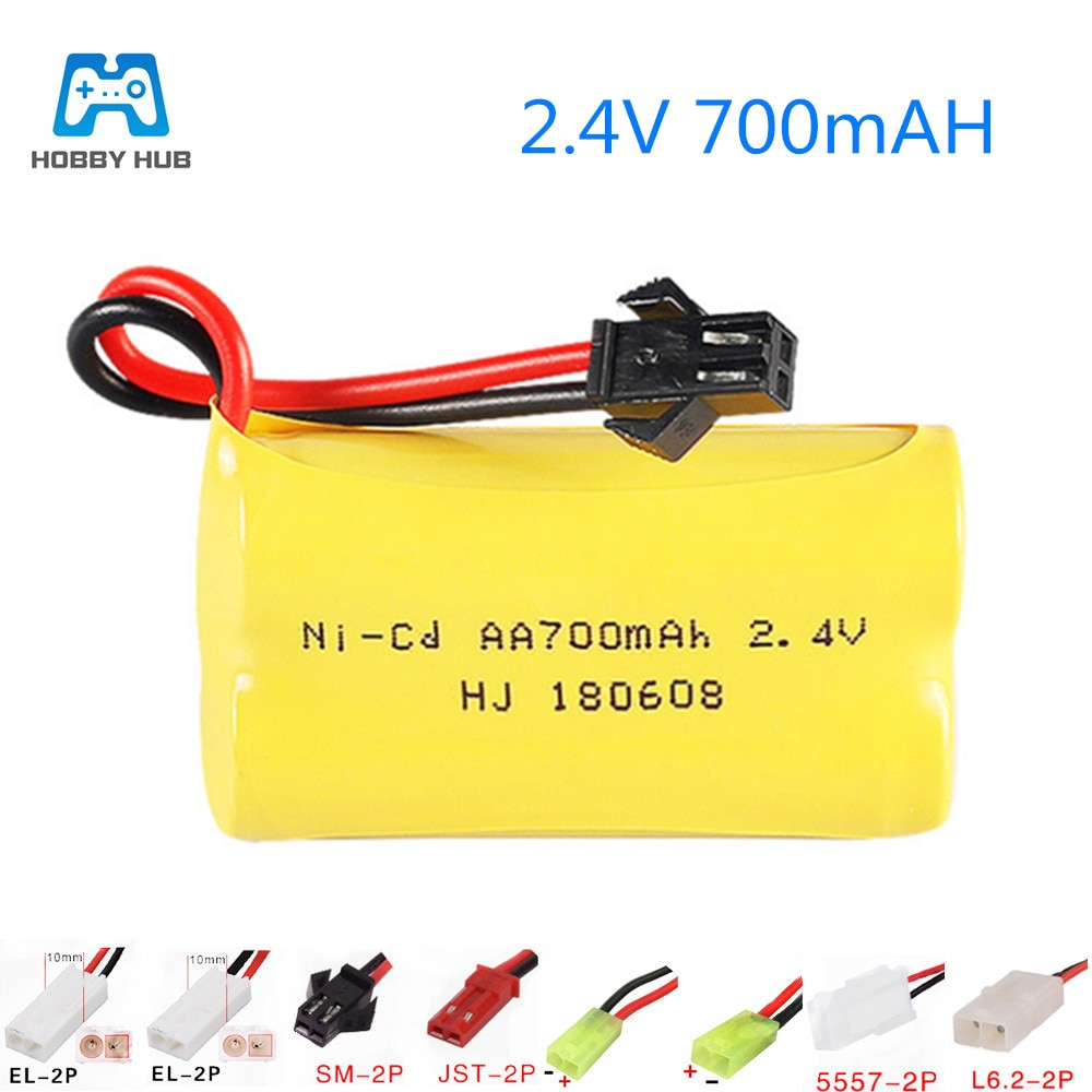 2.4V 700mah AA NI-CD Rechargeable battery pack AA 700 mah for Remote Control Car Electric Toys walkm