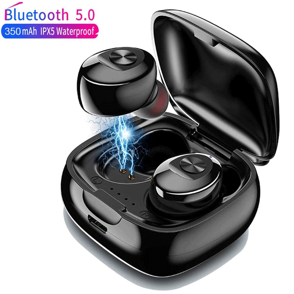TWS Bluetooth 5.0 Earphones XG12 Wireless Earbuds In Ear Earbuds Sports Waterproof Earphone Stereo E