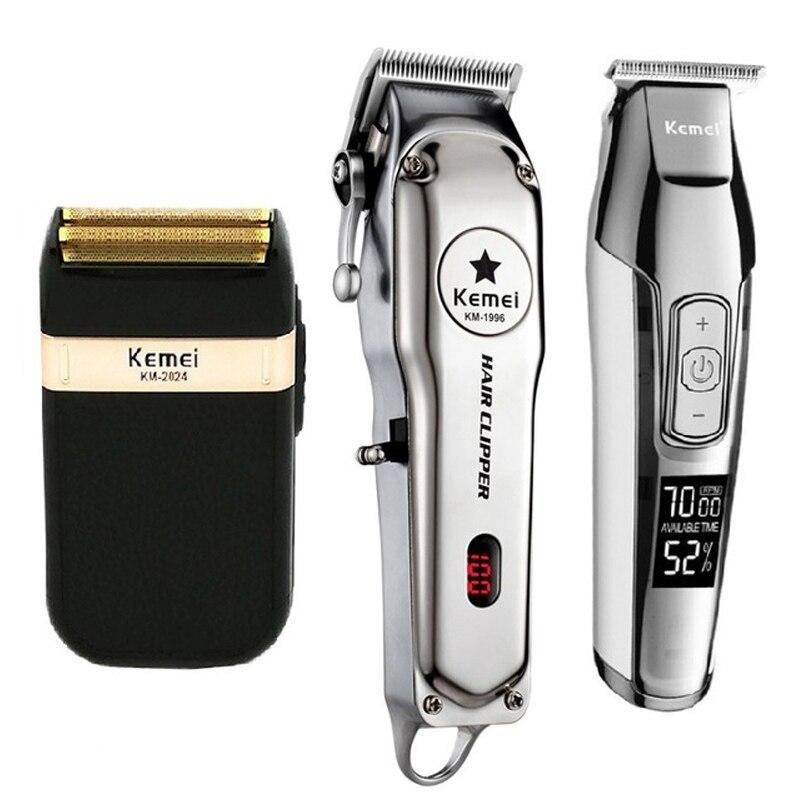 Mower Kemei All Metal profesjonalna elektryczna maszynka do strzyżenia włosów akumulatorowa maszynka do strzyżenia włosów maszynka do golenia zestaw KM-1996 KM-5027 KM-2024