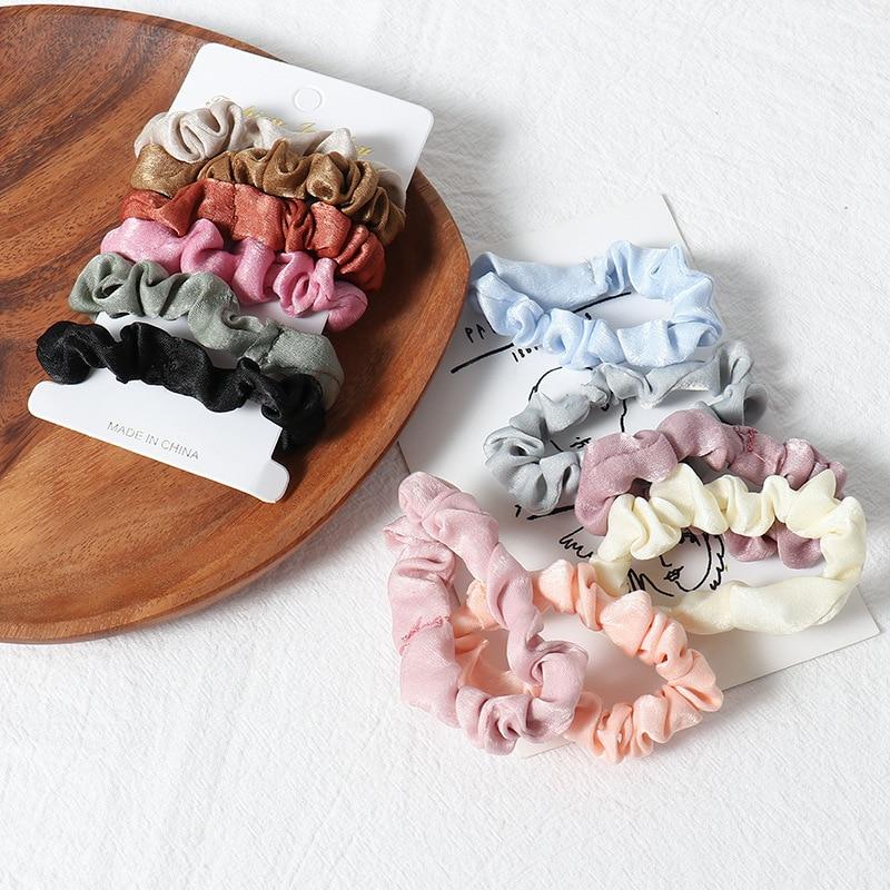 1 комплект scrunchies пръстен за коса цвят - Аксесоари за облекла - Снимка 5