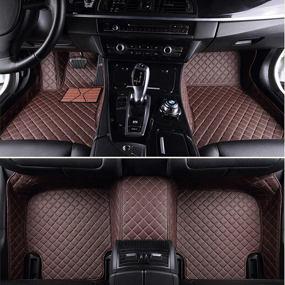 Esteras de suelo de coche de zorro soleado para Jeep Grand cheroki Wrangler Commander Compass 5D revestimiento de suelo de alfombra heavyduty estilo Coche