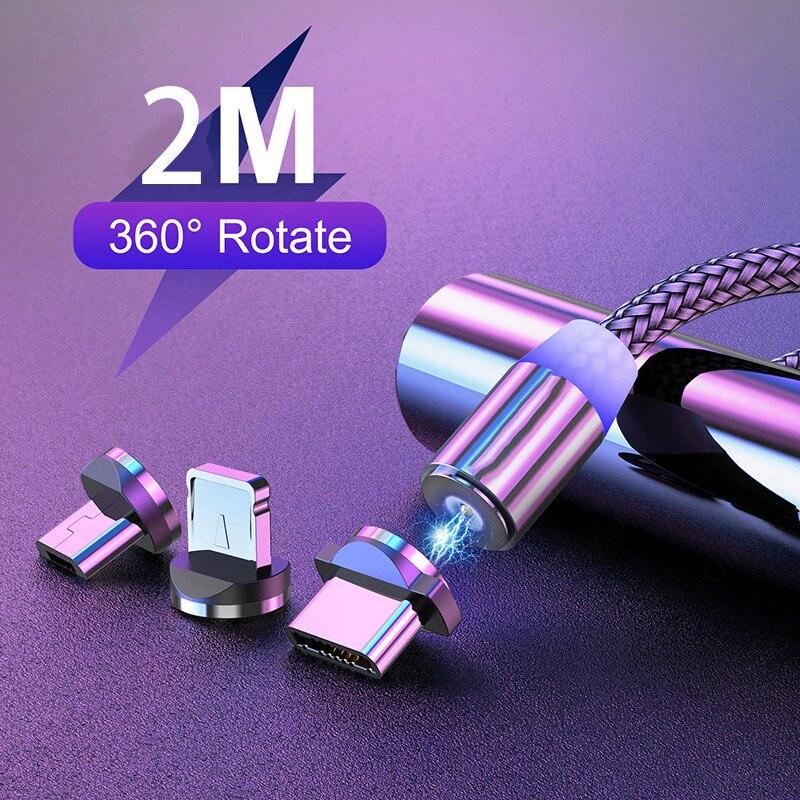 Cables magnéticos Micro USB tipo C de carga rápida para Xiaomi redmi...
