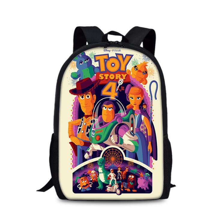 Disney Cartoon Toy Story 4 Backpack For Primary School Bags Boys Girls Kids Bag Infantil Menino Rucksack 16inch