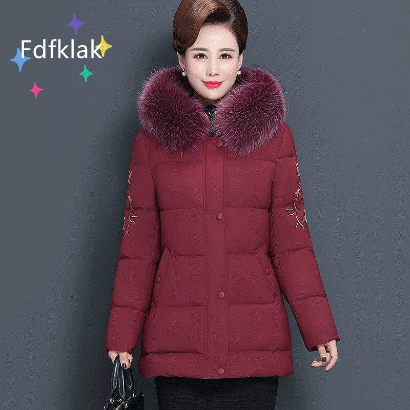 Женская Стеганая куртка с капюшоном, средней длины