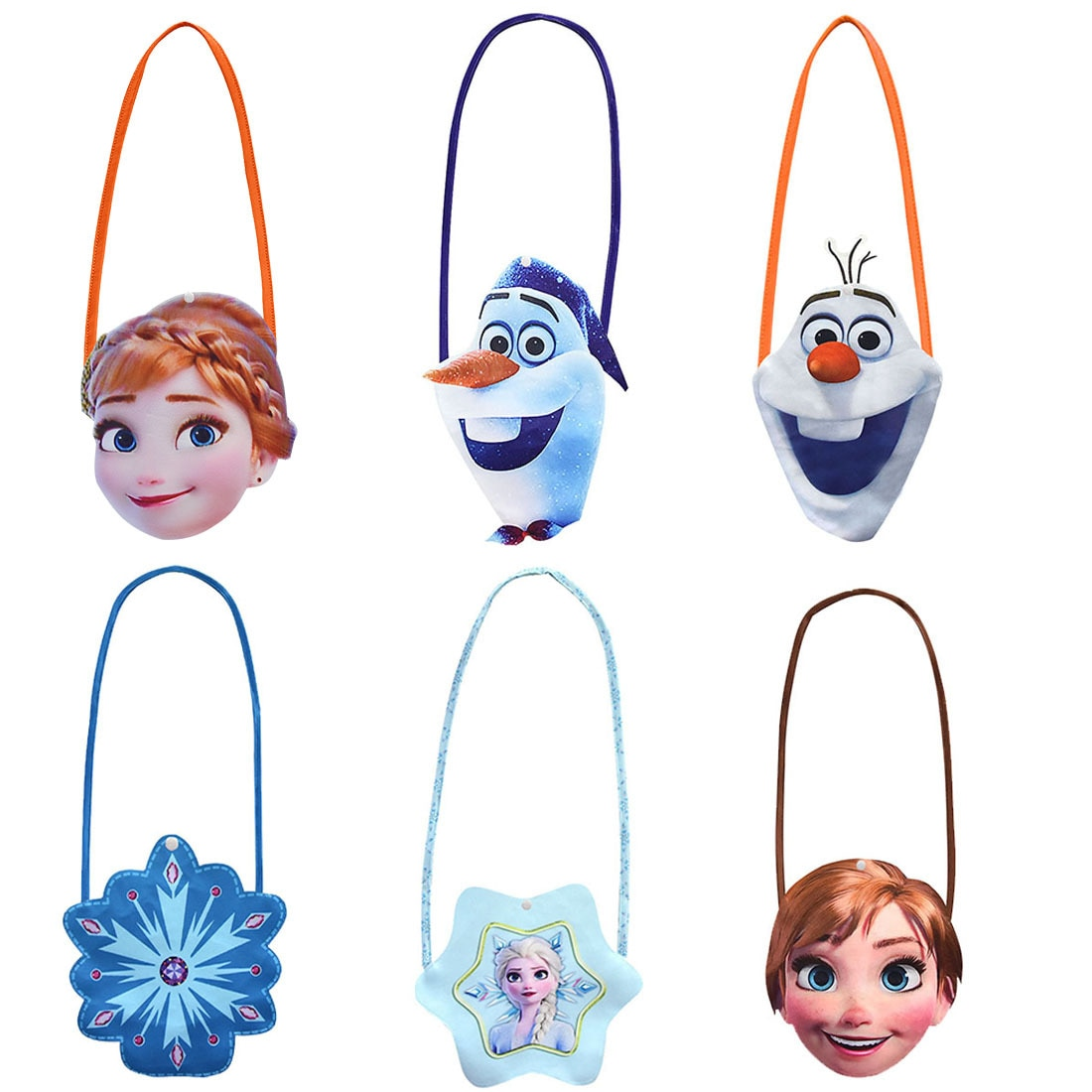 cartoon olaf Disney Frozen2 New Cartoon Bag Anna Elsa Olaf Snowflower Anime Figure Children's Small Shoulder Bag Girl's Favorite Gift Toys