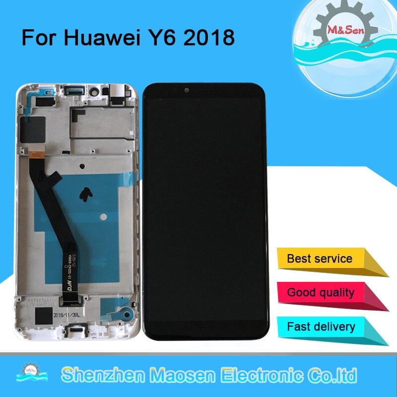 """5,7 """"Original M & Sen para Huawei Y6 Prime 2018/Y6 2018 ATU-L31/ATU-L42 pantalla LCD + Digitalizador de Panel táctil con herramientas de Marco"""