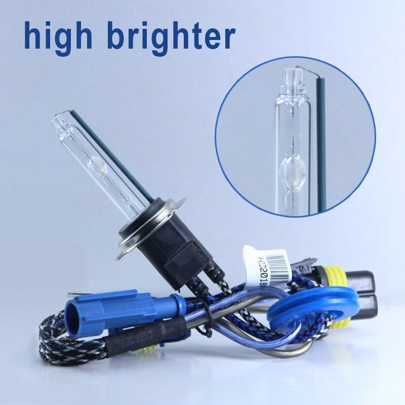 2 uds. Bombilla de Xenón de alta luminosidad Premium de 55W H7 H1 H11 9005 9012 Kit de conversión HID D2H H3 bombilla faro de coche 12V 5500K
