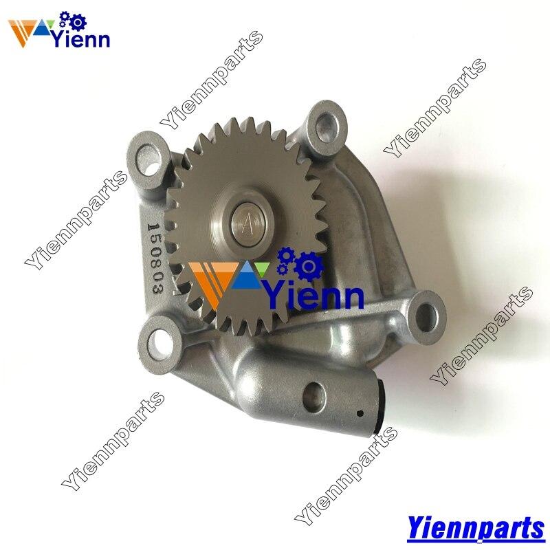 Масляный насос для Yanmar 4TNV106 4TNE106 S4D106, масляный насос 123900-32001 для Комацу WB93R-2 WB140 WB150, детали двигателя для экскаватора-погрузчика S4D106