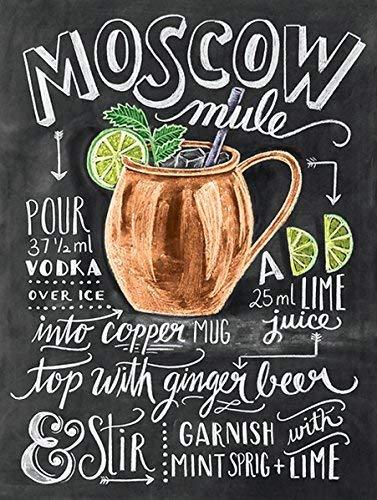 Moscou mula metal estanho parede sinal presente parede cozinha