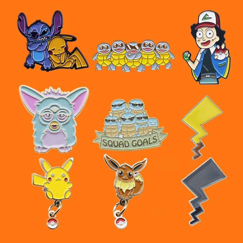 Desenhos animados de metal de coelho de esmalte de animação bonito broche mochila chapéu colar lapela emblemas masculino moda jóias presentes