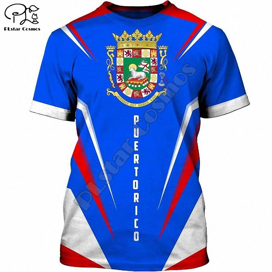 PLstar Cosmos-camisetas con emblema de la bandera de Puerto Rico para hombre...