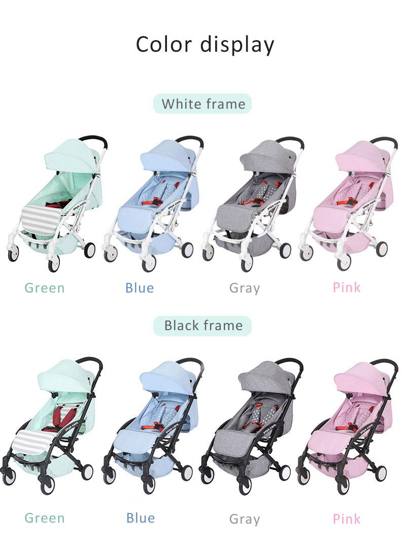 Widened Baby Stroller Lightweight Folding Suitable For Walking Travel Stroller enlarge