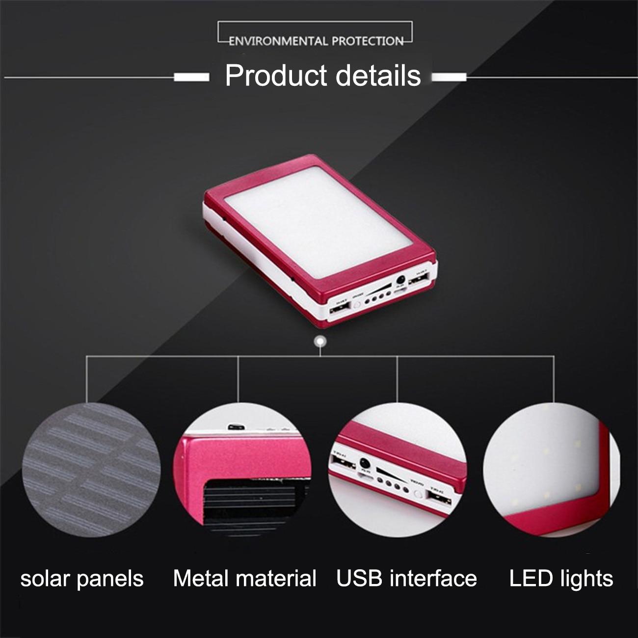 Portable 5x18650 Powerbank Power Power Bank 18650 Solar Power Bank Case DIY Box Dual USB Kit Phone Charger Flashlight