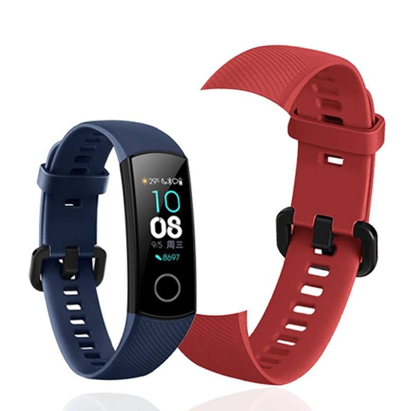 Спортивный ремешок для Honor Band 5, ремешок на запястье для Huawei Honor Band 4, силиконовый браслет, мягкий ТПУ, ремешок на запястье, аксессуары для Band 5