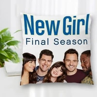 hot sale custom decorative pillowcase new girl tv show poster square zippered pillow cover best nice gift 35x35cm 40x40cm