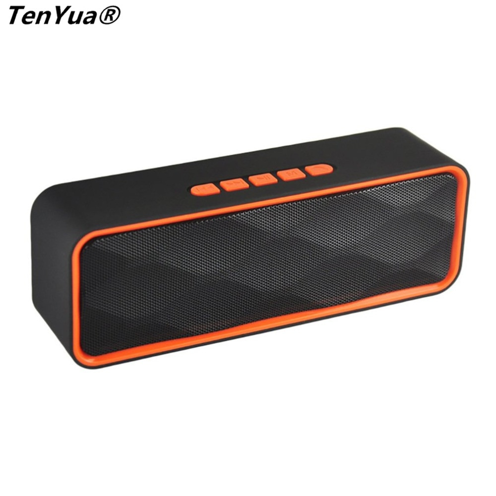 SC211 Altavoz Bluetooth estéreo portátil Multimedia portátil altavoz USB TF/U Disk Bass Gun soporte teléfono Bluetooth