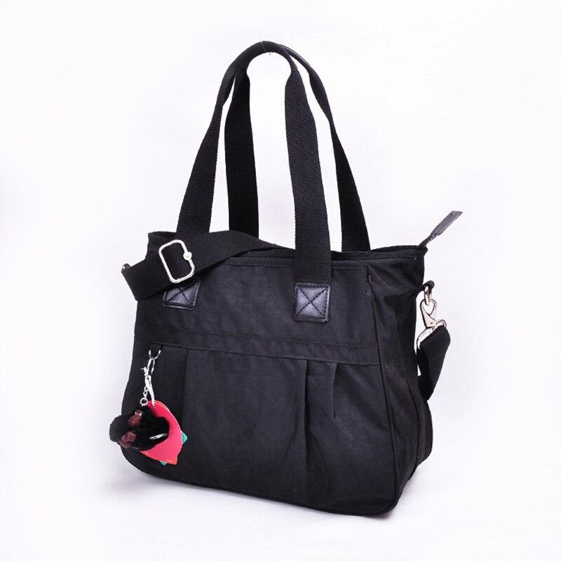 العلامة التجارية الفاخرة حمل سيدة حقائب اليد المرأة الأصلي مصمم عالية الجودة حقيبة يد من النايلون الإناث حقيبة كتف قرد مفتاح Bolsa femnia