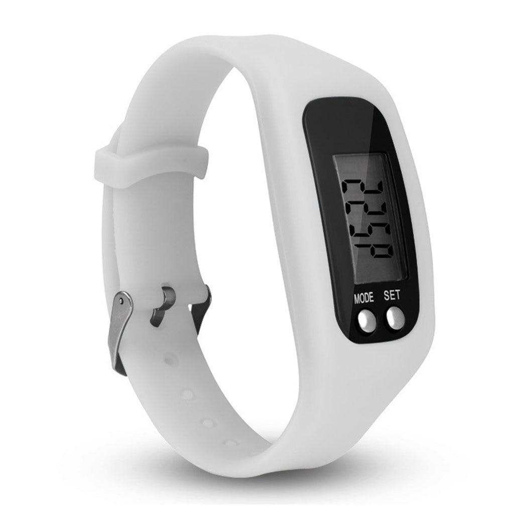 Digital LCD Pedometer Bracelet Run Step Walking Distance Counter Sport Wrist Watches For Women Men D